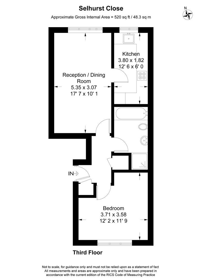 Floorplan for Selhurst Close, Parkside, Wimbledon
